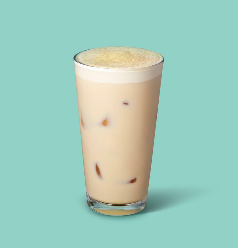 아이스 콩고물 블랙 밀크 티